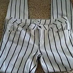 F21 Black Pinstripe Jeans